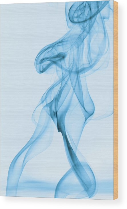 Blue Smoke Wood Print featuring the photograph Blue Smoke by Andy Van der motte
