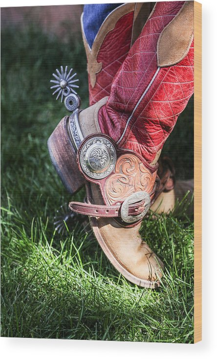 New Mexico Wood Print featuring the photograph Boots And Spurs by Stephanie Brand