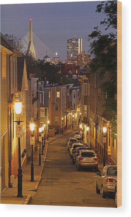 Charlestown Wood Print featuring the photograph Boston View From Charlestown by Juergen Roth