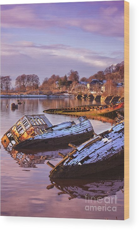 Bowling Wood Print featuring the photograph Bowling Harbour 03 by Antony McAulay
