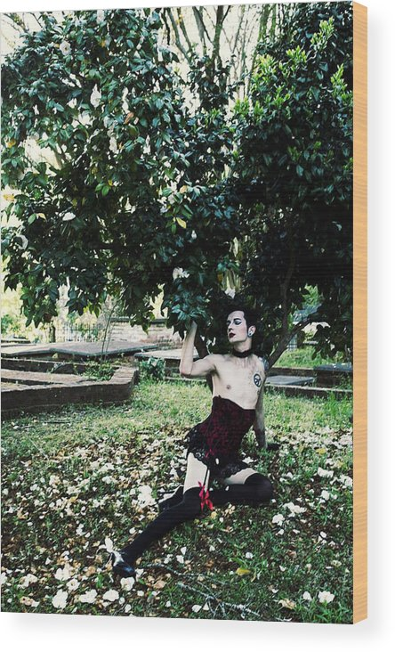 Boy Wood Print featuring the photograph Boylesque by Jake Revolt