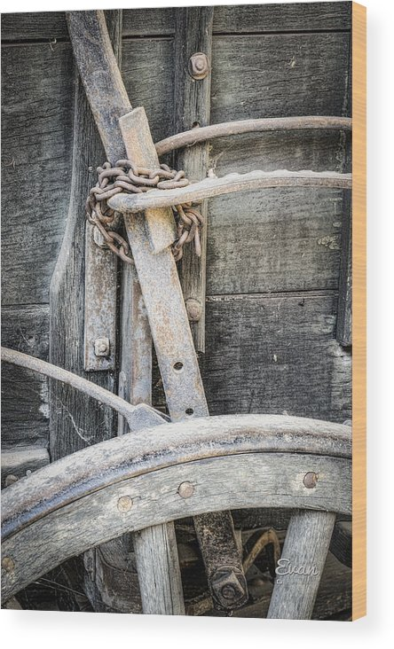 Old West Wood Print featuring the photograph Brakes by Evan Jones