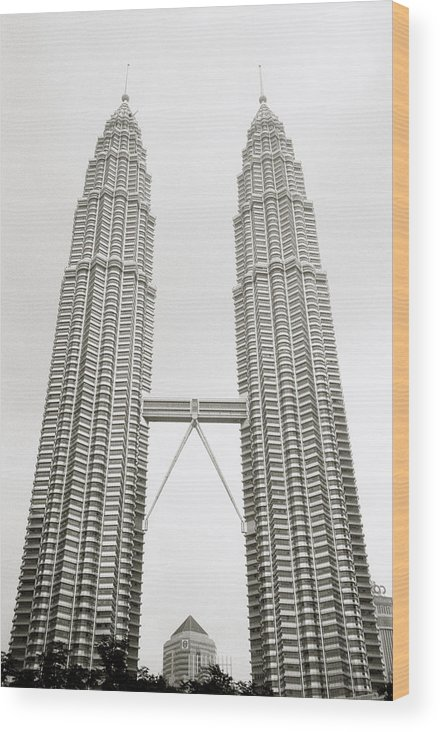 Petronas Towers Wood Print featuring the photograph Brave New World by Shaun Higson