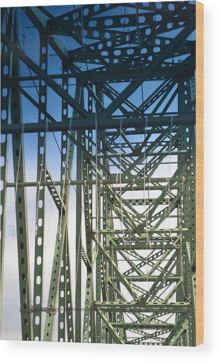Bridge Wood Print featuring the photograph Bridge Over Astoria by Evan Silver