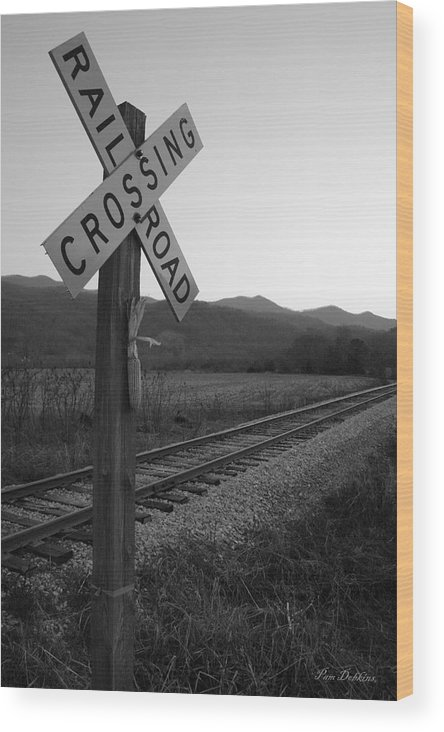 Railroad Wood Print featuring the photograph Bryson City Railroad by Pam Dobkins