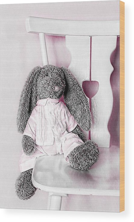 Bunny Wood Print featuring the photograph Bunny by Anne Costello