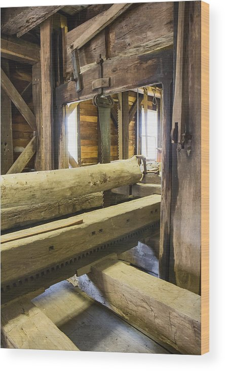Jackson's Mill Wood Print featuring the photograph Bygone Sawmill by Mary Almond