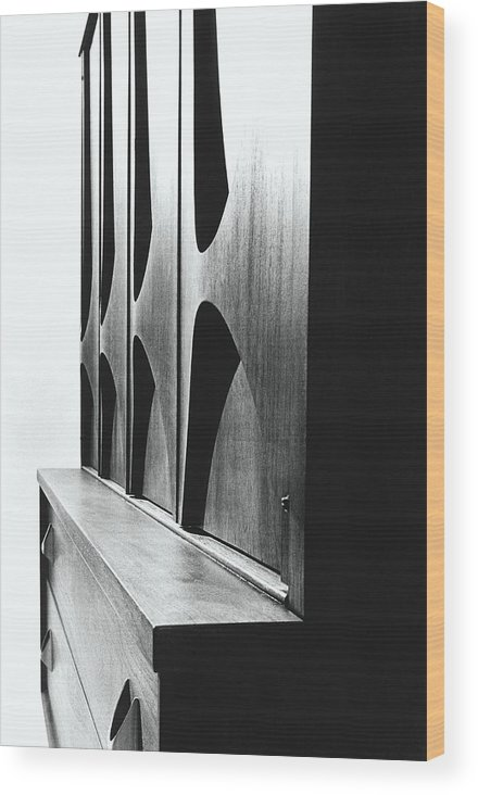 Oscar Niemeyer Wood Print featuring the photograph Cabinet Designed By M F Smith For Broyhill by William Grigsby