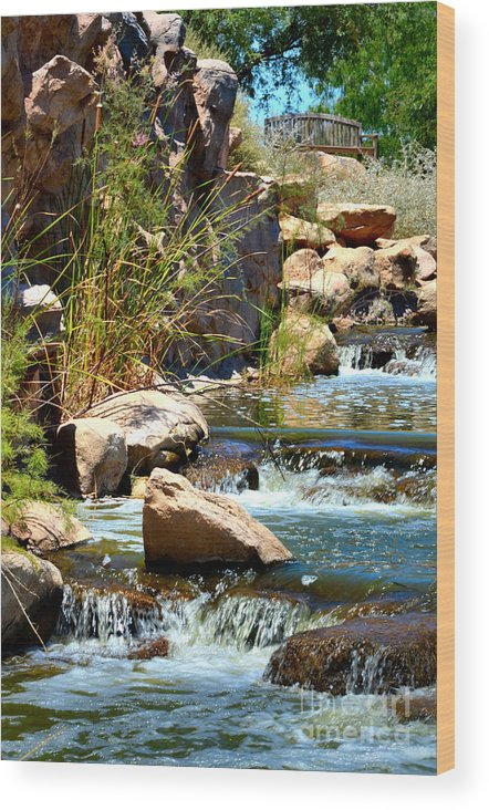 Waterfalls Wood Print featuring the photograph Calming Waters by Deb Halloran