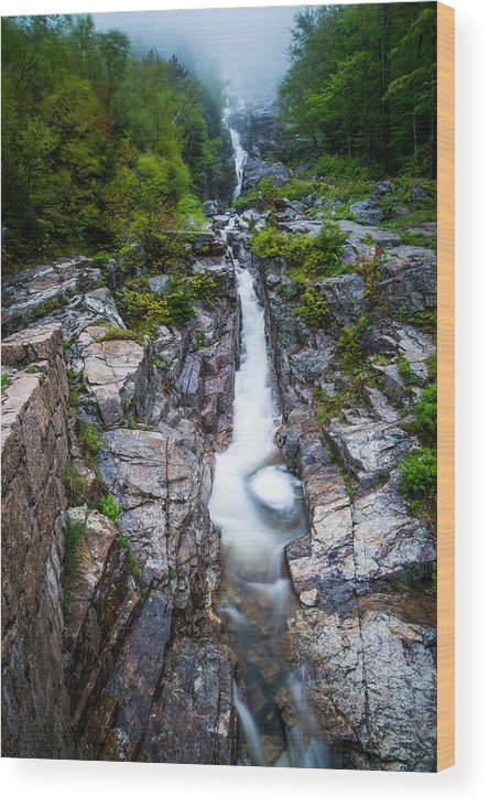 Landscape Wood Print featuring the photograph Cascade by John Crookes