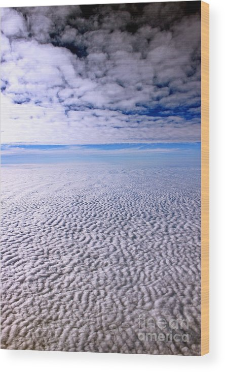 Cloud Formation Wood Print featuring the photograph Ceiling High 2 by Earl Johnson