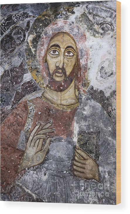 Jesus Wood Print featuring the photograph Ceiling Of The Sumela Monastery by Robert Preston