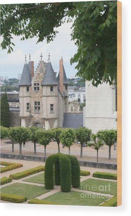 Castle Wood Print featuring the photograph Chateau D'angers - Chatelet View by Christiane Schulze Art And Photography