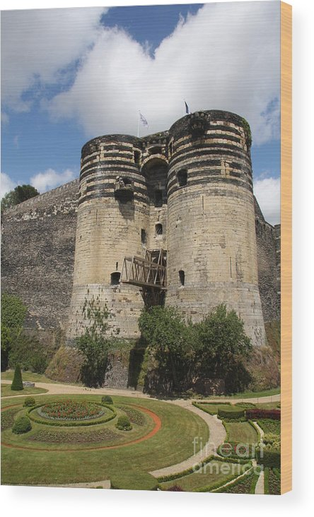 Castle Wood Print featuring the photograph Chateau D'angers - France by Christiane Schulze Art And Photography