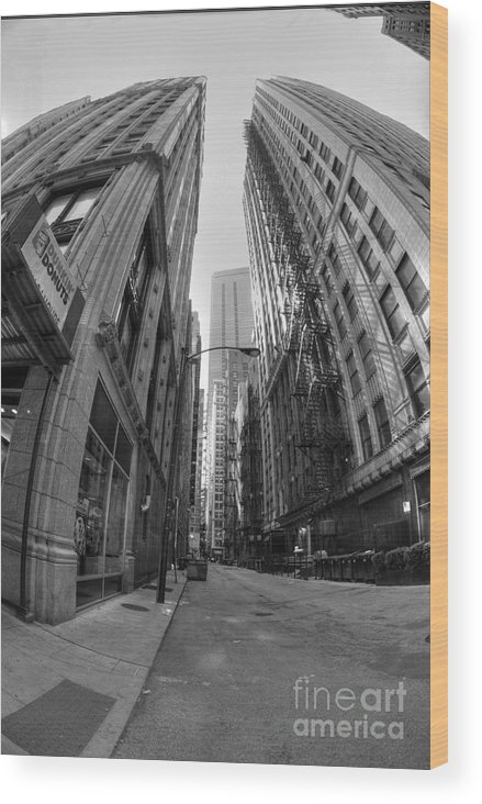 Chicago Wood Print featuring the photograph Chicago Fire Escapes by David Bearden