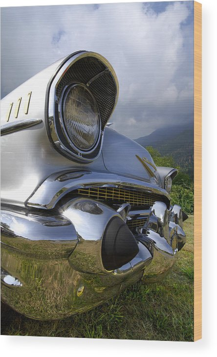 57 Wood Print featuring the photograph Classic Chevrolet by Debra and Dave Vanderlaan