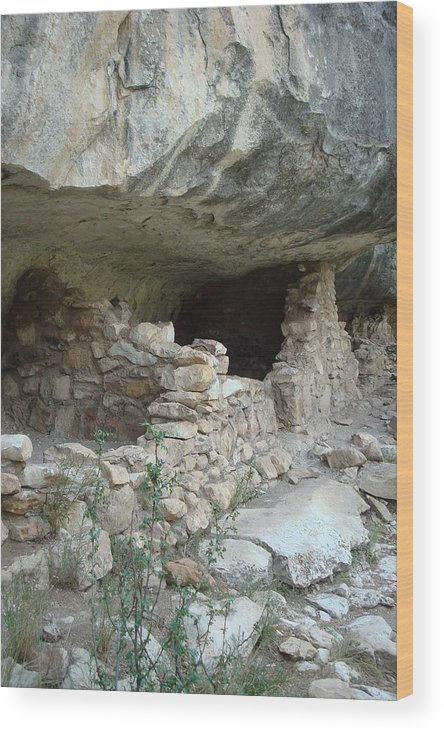 Cliff Dwelling Wood Print featuring the photograph Cliff Dwelling by Susan Woodward