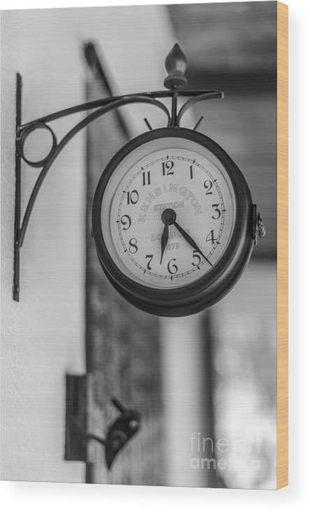 Wood Print featuring the photograph Clock by Eugenio Moya