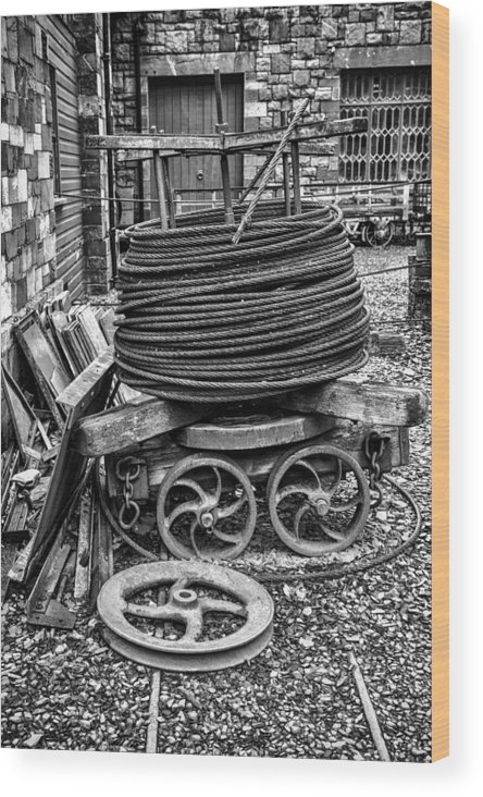 2012 Wood Print featuring the photograph Coiled Cable by Christine Smart