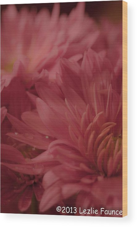 Bouquet Wood Print featuring the photograph Competing For Attention by Lezlie Faunce