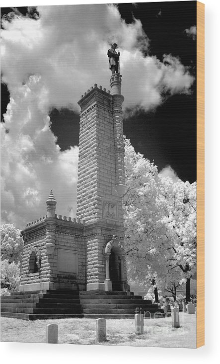 Infrared Wood Print featuring the photograph Confederate Resting Place by Paul W Faust - Impressions of Light