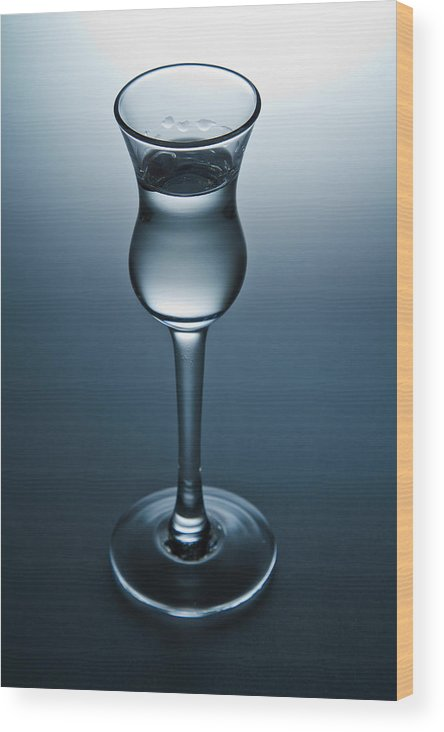 Cordial. After-dinner Wood Print featuring the photograph Cordial With Espresso Bean by John Hoey