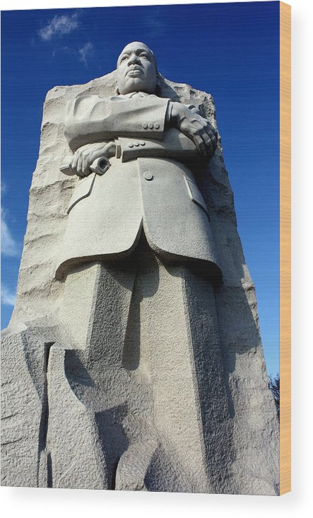 Martin Luther King Wood Print featuring the photograph Courage by Suzanne Stout