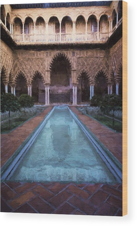 Joan Carroll Wood Print featuring the photograph Courtyard Of The Maidens by Joan Carroll