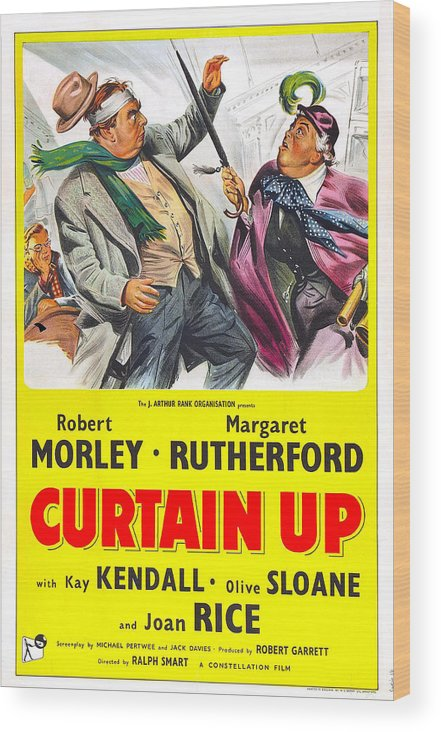 1950s Poster Art Wood Print featuring the photograph Curtain Up, Us Poster, Robert Morley by Everett