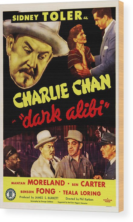 1940s Movies Wood Print featuring the photograph Dark Alibi, Top Left Sidney Toler by Everett