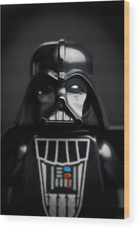 Lego Wood Print featuring the photograph Darth Vader by Samuel Whitton