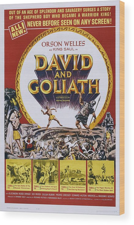1960 Movies Wood Print featuring the photograph David And Goliath, Aka David E Golia by Everett