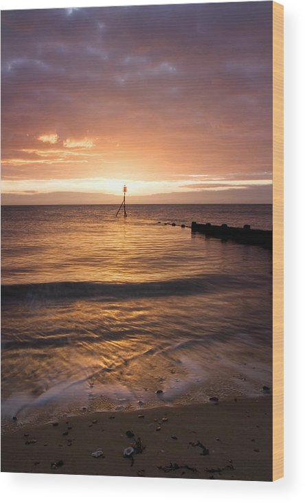 Essex Wood Print featuring the photograph Dawn By The Sea by Mara Acoma