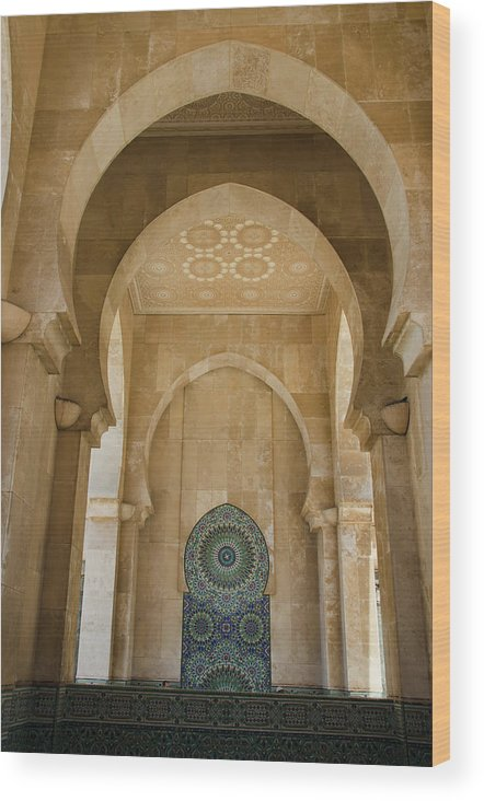 Decorative Arches In The Hassam Ii Wood Print
