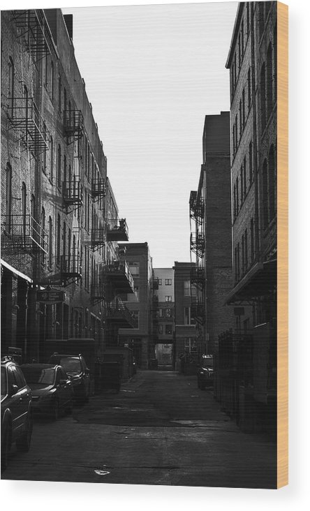 Denver Wood Print featuring the photograph Denver Alley by Amy Fregoso