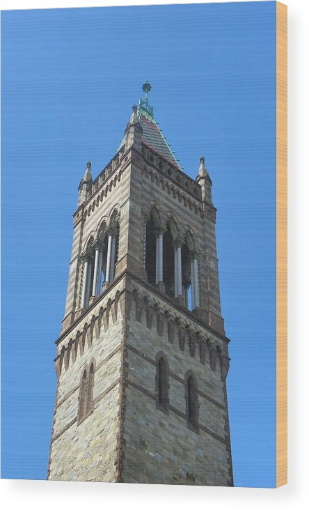 Towers Wood Print featuring the photograph Detail Old South Church Boston by Georgia Hamlin