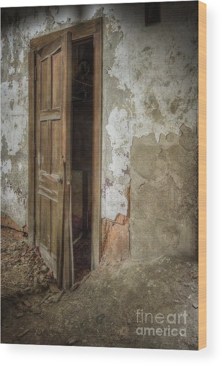 Door Wood Print featuring the photograph Dirty Door by Margie Hurwich