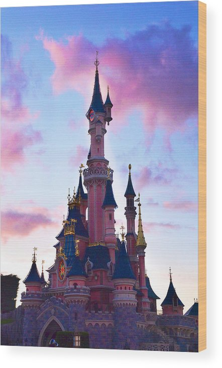 Clouds Wood Print featuring the photograph Disney Dream by Catherine Murton