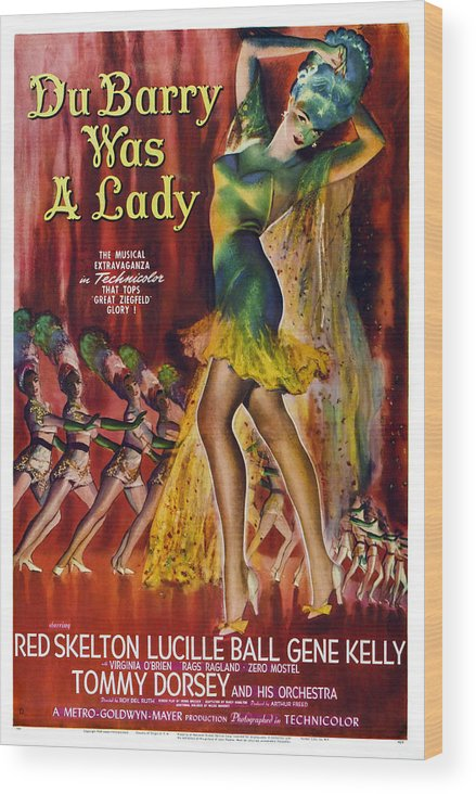 1940s Movies Wood Print featuring the photograph Du Barry Was A Lady, Us Poster, 1943 by Everett