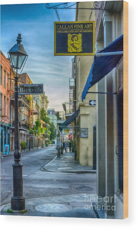 2014 Wood Print featuring the photograph Early Morning In French Quarter Nola by Kathleen K Parker