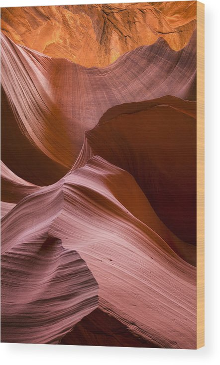 Landscape Wood Print featuring the photograph Earth Below by Nancy Strahinic
