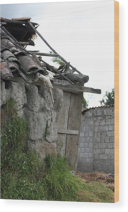 House Wood Print featuring the photograph Ecuadorian House Falling Into Ruin by Robert Hamm