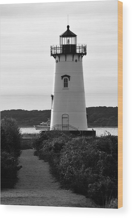 Lighthouse Wood Print featuring the photograph Edgartown Lighthouse by David Champigny