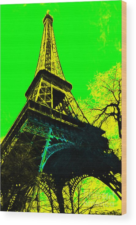 Europe Wood Print featuring the photograph Eiffel 20130115v2 by Wingsdomain Art and Photography