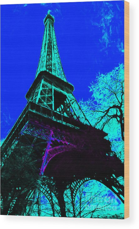 Europe Wood Print featuring the photograph Eiffel 20130115v4 by Wingsdomain Art and Photography