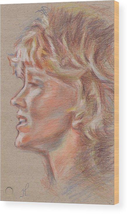 Portrait Wood Print featuring the painting En Firad Skonhet by Horacio Prada
