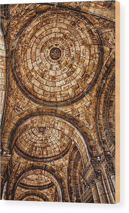 France Wood Print featuring the photograph Entry To Sacre Coeur Basilica - Paris by Jon Berghoff