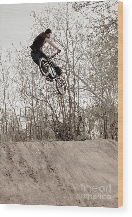 Eric Wood Print featuring the photograph Erik Ream Turn Down by Joel Loftus