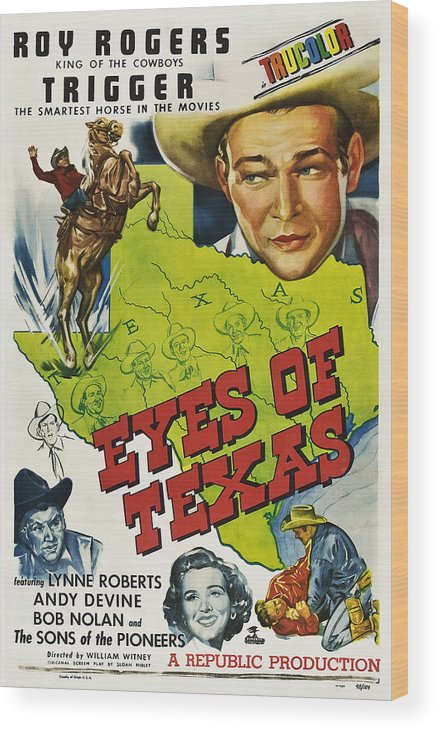 1940s Movies Wood Print featuring the photograph Eyes Of Texas, First, Second, Third by Everett