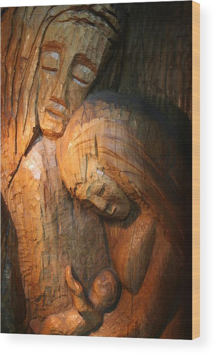 Wood Wood Print featuring the photograph Family by Steven Saylor